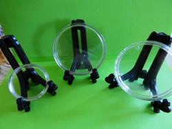 Érmetartó Kitüntetéstartó állvány ÚJ műanyag díszes stabil 200 Ft/db (kapszula nélkül!!)