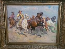 Viski János (1891 - 1987) : Cowboys