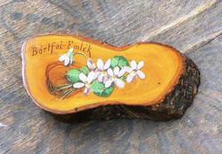Bártfai emléktárgy kézzel festett