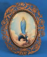 Immaculata Mária, A szent szűz portréja, gyönyörű keretben