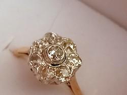 Antik arany gyűrű brillekkel