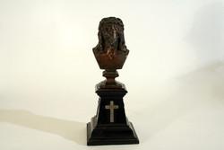 Christ bronze statue of thorns 29cm jesus Eucharistic Congress of Jenő Bory