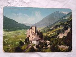 Antik képeslap Olaszország Brunnenburg vár/kastély Merano, hegyek