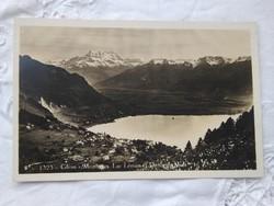 FOGLALT!!! Vintage képeslap/fotólap Svájc Alpok Glion Montreux Dent to Midi