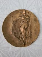 Absztrakt akt bronz plakett 9,5 cm RE jelzéssel