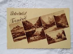 FOGLALT!!! Vintage képeslap/fotólap Torna, hegyek, vár
