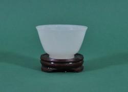 Antik áttetsző faragott Jade csésze