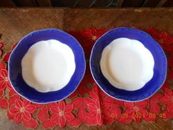 Zsolnay Pompadour alapmázas mély tányérok