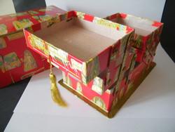 Vintage Altmann& Kühne bécsi bonbonos doboz, több szintesre nyitható (Lukáts Kató terv)