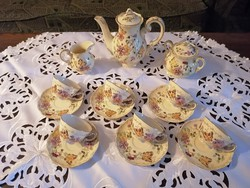 Zsolnay butterfly coffee set