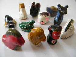 Mini kerámia figura állatok 11 db
