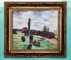Kássa Gábor Faluvégi cigányok 1926