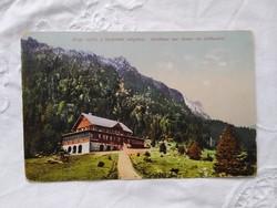 Antik képeslap Tátra Zerge szálló a tarpataki völgyben 1918
