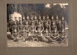 Schwarzlose géppuska, vitézségi, kitüntetés, ügyességi, tisztek, katonák, kép 23x16,5 cm, éles