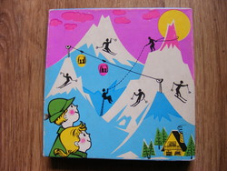 Retro mountain hike magnetic board game - trial