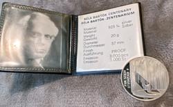 EGY FORINTRÓL - EZÜST ÉREM - BARTÓK BÉLA ZENTENÁRIUM - 1981