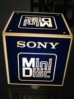 Retro sony mini disc advertising lamp