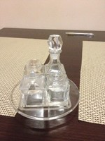 Régi kristály asztali fűszertartó szett