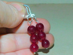 Red agate stone mineral earrings