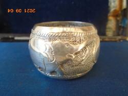 Szecessziós ezüst szalvéta gyűrű..27 gramm ca 3,5 cm extra ötvös munka kb 1920-30 évek