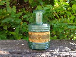 Régi Alizarin tintás üveg, szakított üveg