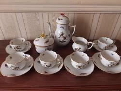 Herendi 6 személyes Rothschild mintás kávés készlet