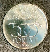 EGY FORINTRÓL - EZÜST ÖTSZÁZ FORINTOS - 1986 - BUDAVÁR VISSZAVÉTELE