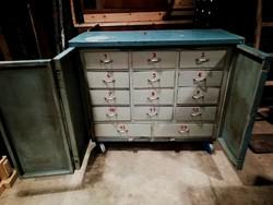 14 fiókos műhely szekrény, sokfiókos szerszámos tároló, gurulós szekrény