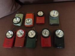 9 old flashlights