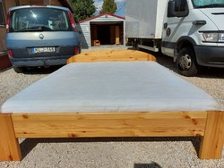 For sale a claudia pine bed frame with mattress and bed frame. Rs butor.