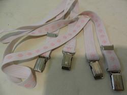 Rózsaszín női gumis nadrágtartó