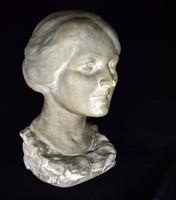 Lady of Krasnai (Krausz) (1884 -) bust statue ... From 1929 !!!
