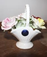 Royal Doulton porcelán rózsás kosár