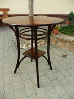 Extremely rare original antique Art Nouveau thonet salon table. Clean hardwood, not veneered!