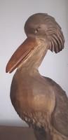Hand carved large bird sculpture