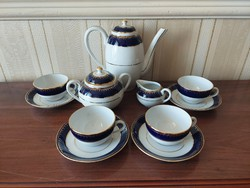 Zsolnay coffee set for 4 people