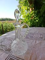 Beautiful crystal glass liqueur decanter