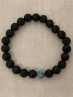 Real lava stone bracelet