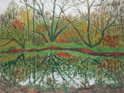 Weisz Zsuzsa 60 x 80 cm olaj, vászon 1985
