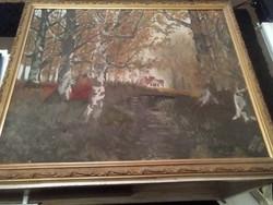 Antik olaj festmény.