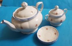 Meissen tea set pieces jug, sugar bowl, 3 saucers