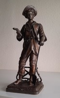 Art Nouveau gardener boy, pediatrician statue