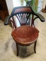 Thonet szék,patkó karfás,nagy ülőlapos,íróasztal szék,karosszék,karfás
