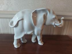 Herend white huge elephant