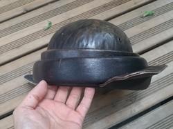 II. World War II tanker leather helmet helmet headgear Italian Spanish