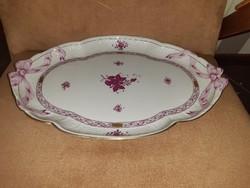 Herend ribbon bowl, serving, centerpiece, ribbon pattern