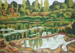 Weisz Zsuzsa 65 x 90 cm olaj, vászon 1976