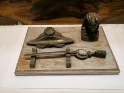 Desk ornament, calamari, letter opener