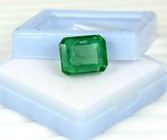 Gyönyörű zöld Smaragd 12.80CT Tanúsítvánnyal Több termék 1 Ft-ról!
