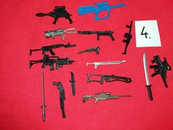 Soldier, warrior action g.I joe star wars and other figures weapon pack in one according to pictures 4
